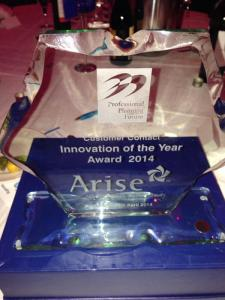 Customer Contact Innovation Awards Winner - Arise 2014