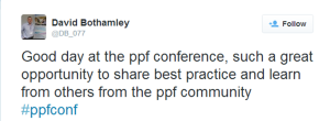 David Bothamley Tweet PPF Conf Customer Strategy 2014