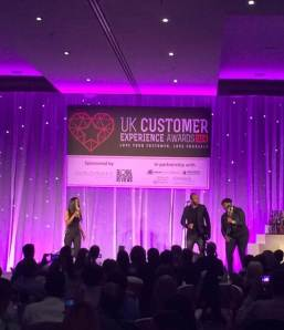 M People Heather Small UK Customer Experience Awards Excel London with Douglas Jackson