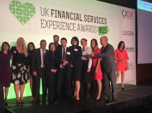 UK Financial Services Experience Awards - Nationwide Building Society Overall Winners.