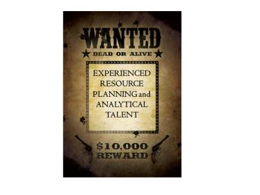Wanted - Resource Planning Analysts Business Intelligence Customer Insight