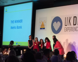 Metro Bank Overall Winners of the Customer Service Training Netowrk Awards 2015 #ukcstn