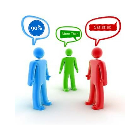 Web Chat = 90 per cent high satisfied