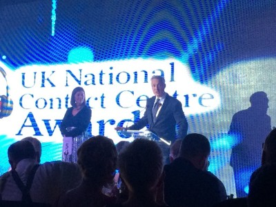 Martin Kemp CCMA UK NAtional Contact Centre Awards 2017 Ann-Marie Stagg