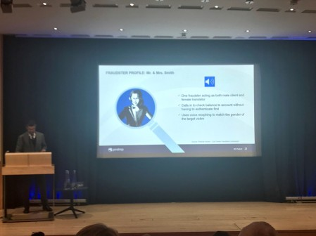 Pindrop Fraudster Profiles UK National Contact Centre Conference Douglas Jackson