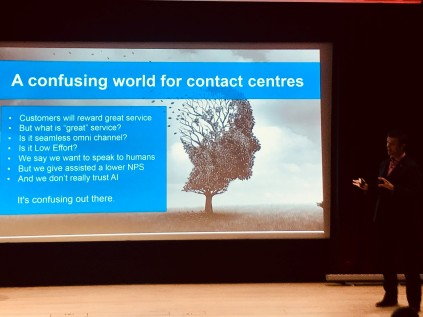 Ed Creasey NICE a confusing world for contact centres #ukccc18