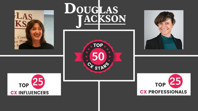 Top 25 CX influencer Top 25 CX Professional Hannah Louise Cox and Michelle Ansell Douglas Jackson